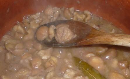 Zuppa autunnale con castagne