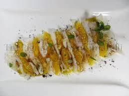 Carpaccio di baccalà agli agrumi