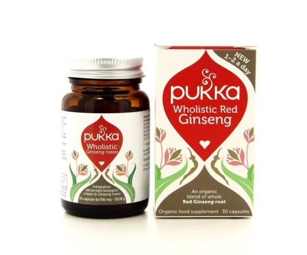 Pukka Integratori - Wholistic Red Ginseng Integratore alimentare a base di erbe ayurvediche biologiche